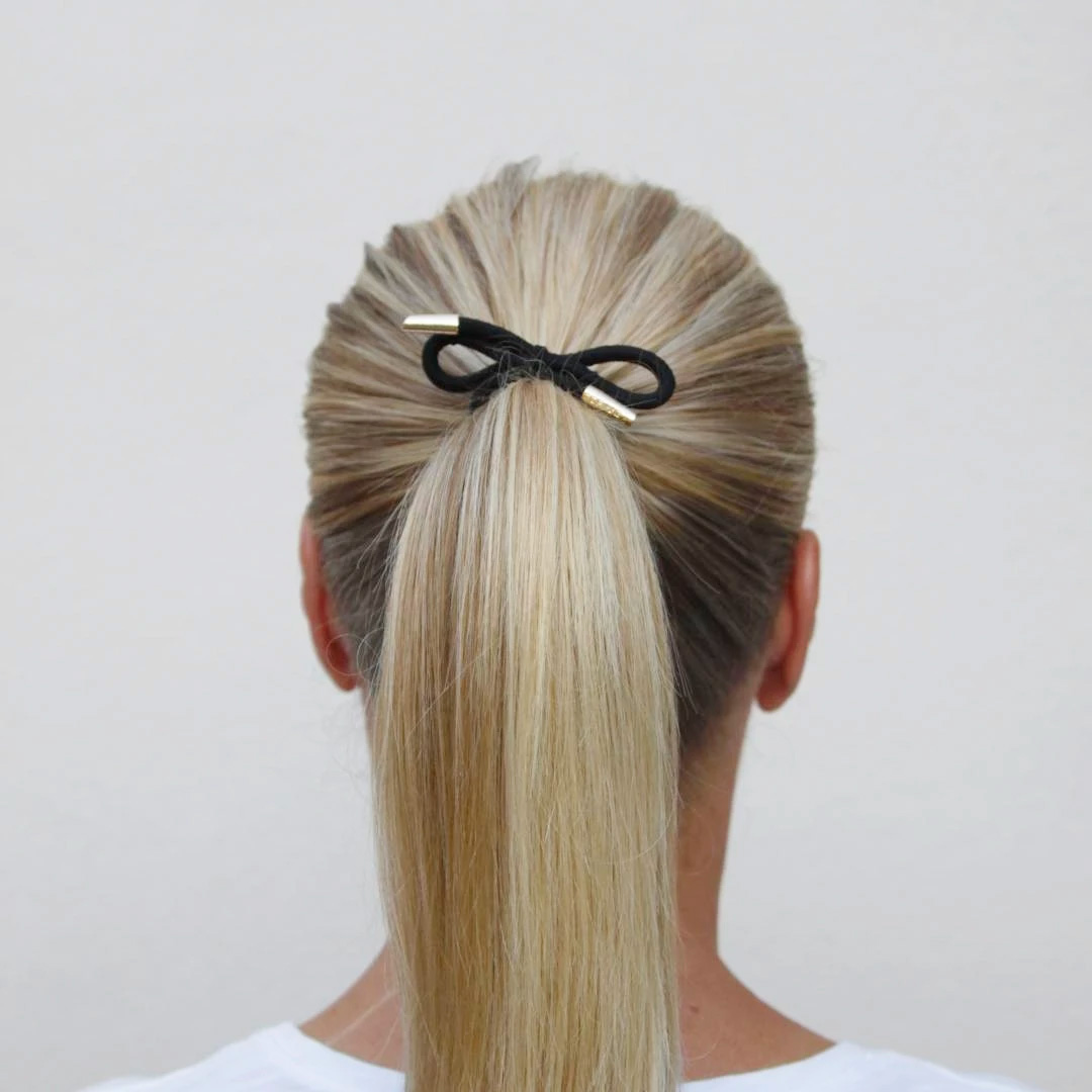 Corinne Hair Tie Bow Plain