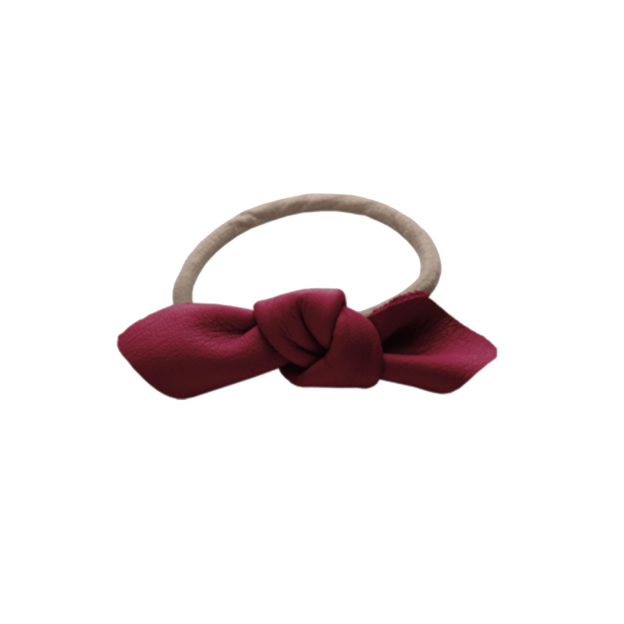 Corinne Leather Bow Big Hair Tie