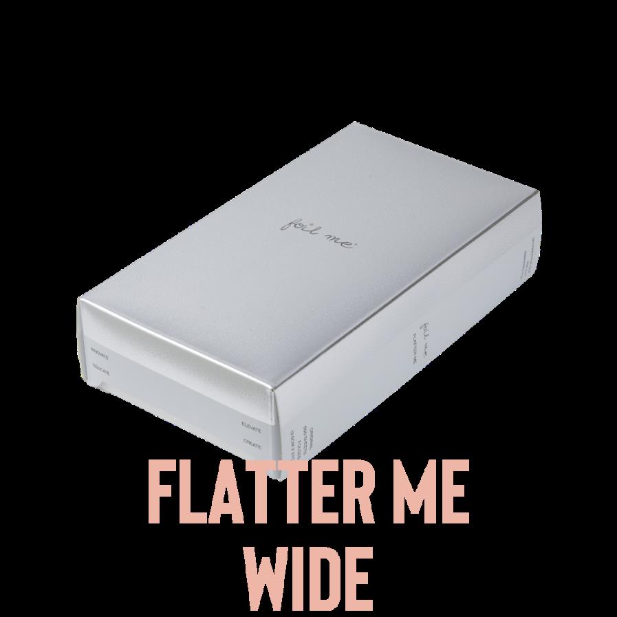 """Foil Me FLATTER ME - WIDE (PRE-CUT FOIL WITH FOLD - 500 SHEETS - 6"""" X 10.75"""")"""
