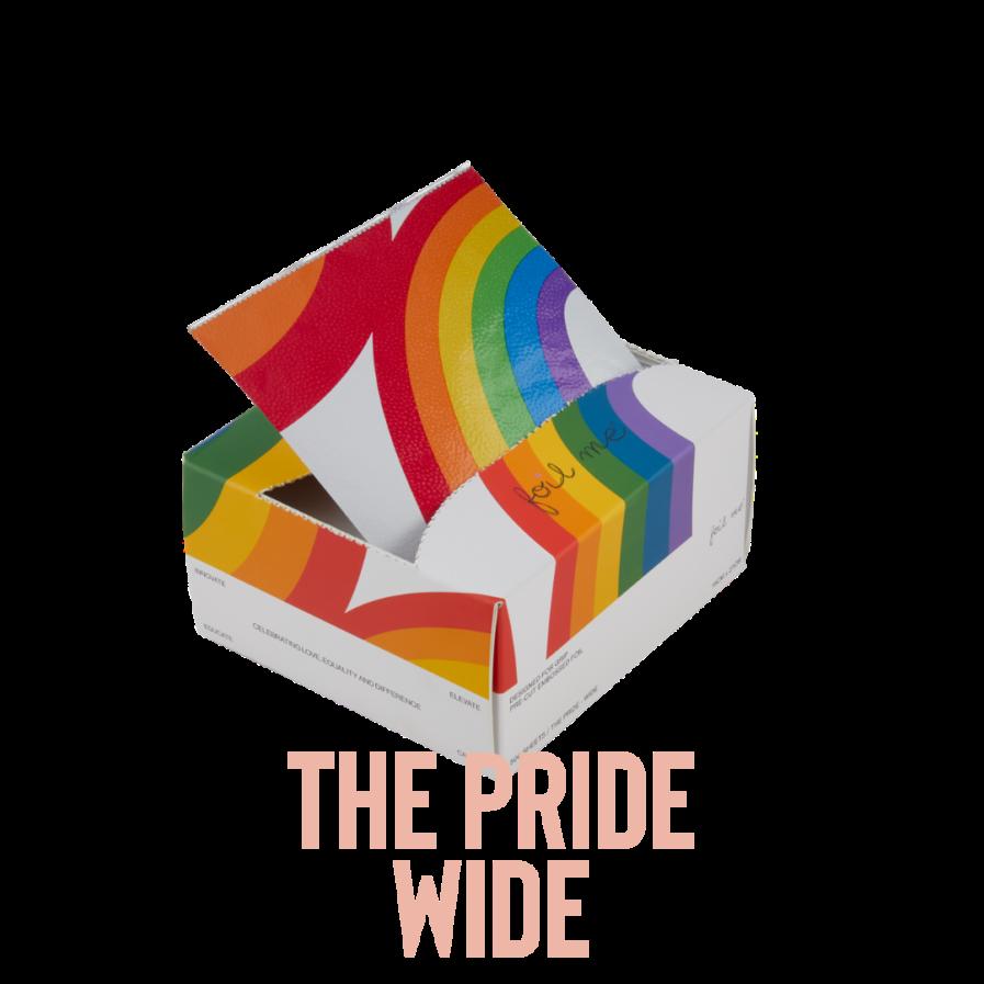 """Foil Me THE PRIDE WIDE (PRE-CUT FOIL - 500 SHEETS - 6"""" X 10.75"""")"""