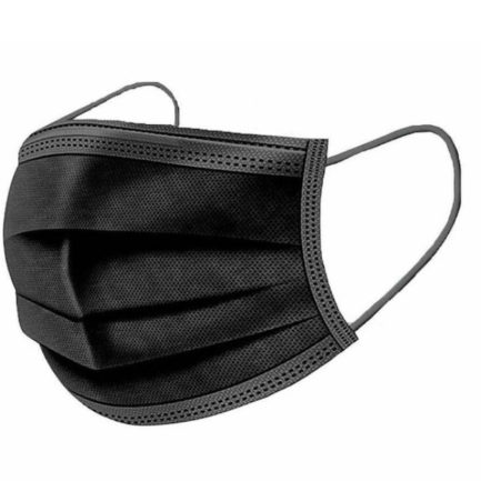3ply Black Disposable Face Mask